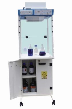 Umluftfilterarbeitsplatz mit entlüftetem Lagerungsschrank LABOPUR® Serie H Package