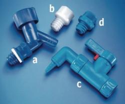 Zapfhahn, PE, blau